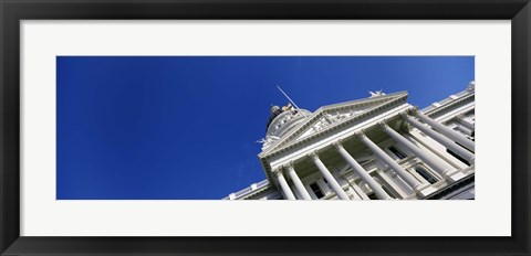 Framed Low angle view of a government building, California State Capitol Building, Sacramento, California Print