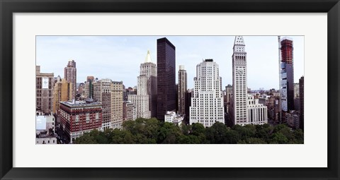 Framed Skyscrapers in a city, Madison Square Park, New York City, New York State, USA Print