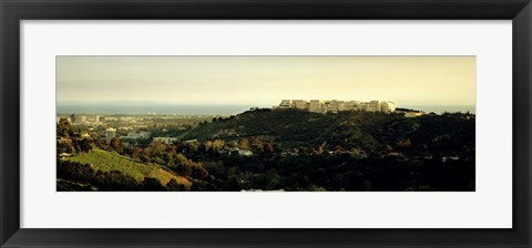 Framed High angle view of a city, Santa Monica, Los Angeles County, California, USA Print