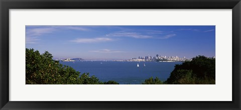 Framed Sea with the Bay Bridge and Alcatraz Island in the background, San Francisco, Marin County, California, USA Print