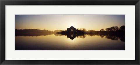 Framed Jefferson Memorial, Tidal Basin, Potomac River, Washington DC Print