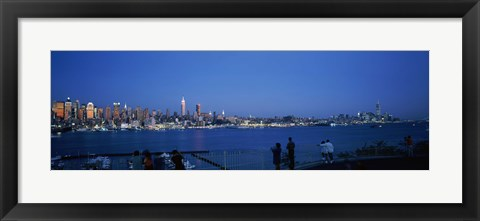 Framed City viewed from Hamilton Park, New York City, New York State Print