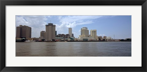 Framed Buildings along the waterfront New Orleans, Louisiana Print