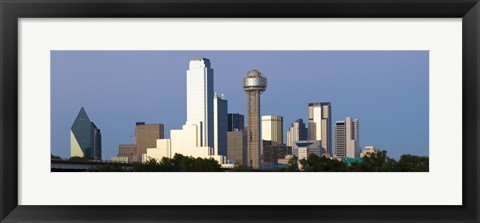 Framed Skyline View of Dallas, Texas Print