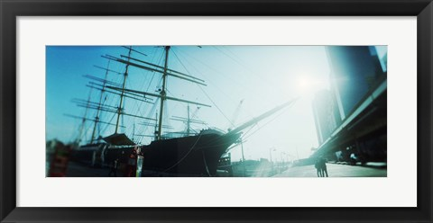 Framed Sailboat at the port, South Street Seaport, Manhattan, New York City, New York State, USA Print