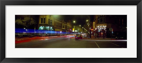 Framed Traffic on the road, Lincoln Park, Chicago, Illinois, USA Print