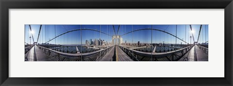 Framed 360 Degree View of the Brooklyn Bridge Print