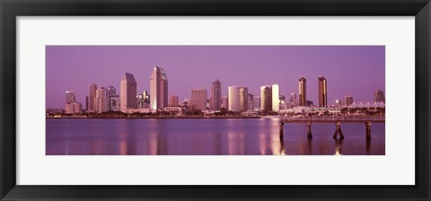 Framed City Skline View of San Diego Print