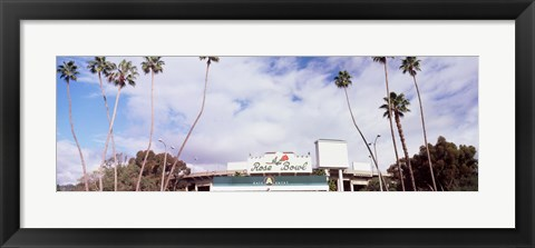 Framed Facade of a stadium, Rose Bowl Stadium, Pasadena, Los Angeles County, California, USA Print