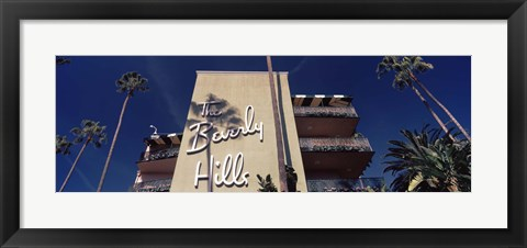 Framed Low angle view of a hotel, Beverly Hills Hotel, Beverly Hills, Los Angeles County, California, USA Print