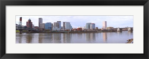 Framed Buildings at the waterfront, Portland, Multnomah County, Oregon, USA 2010 Print