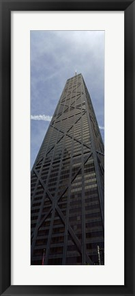 Framed Low angle view of a building, Hancock Building, Chicago, Cook County, Illinois, USA Print