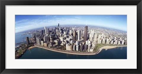 Framed Aerial view of a city, Chicago, Cook County, Illinois, USA 2010 Print