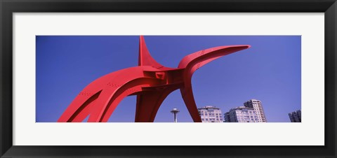 Framed Low angle view of a sculpture, Olympic Sculpture Park, Seattle Art Museum, Seattle, King County, Washington State, USA Print