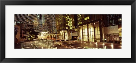 Framed City lit up at night, Citycenter, The Strip, Las Vegas, Nevada, USA Print