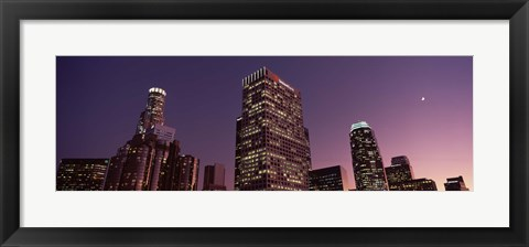 Framed Skyscrapers in a city, City of Los Angeles, California Print