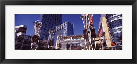 Framed Skyscrapers in a city, Nokia Plaza, City of Los Angeles, California, USA Print