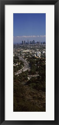 Framed Hollywood, Los Angeles, California (vertical) Print