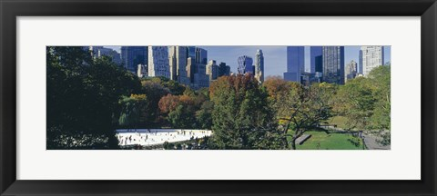 Framed Ice rink in a park, Wollman Rink, Central Park, Manhattan, New York City, New York State, USA 2010 Print