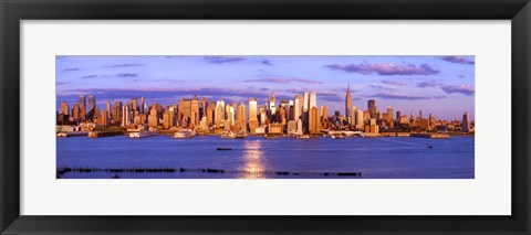 Framed Skyscrapers in a city, Manhattan, New York City, New York State, USA Print