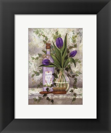 Framed Lavender Body Oil Print