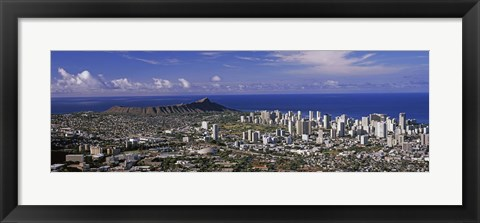 Framed Honolulu, Oahu, Honolulu County, Hawaii, USA 2010 Print