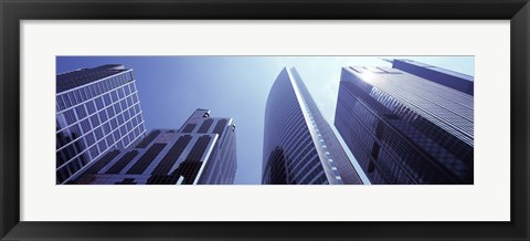 Framed Low angle view of skyscrapers, Chicago, Cook County, Illinois, USA Print