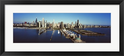 Framed Pier on a lake, Navy Pier, Lake Michigan, Chicago, Cook County, Illinois, USA 2011 Print