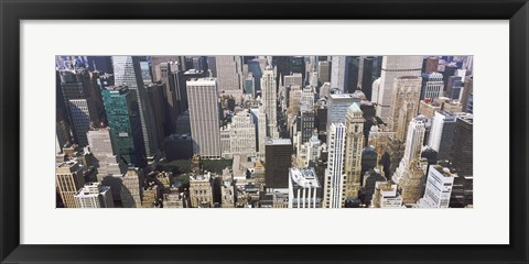 Framed Bryant Park and surrounding buildings, Manhattan, New York City, New York State, USA Print