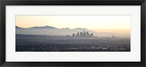 Framed Los Angeles, California Cityscape Print