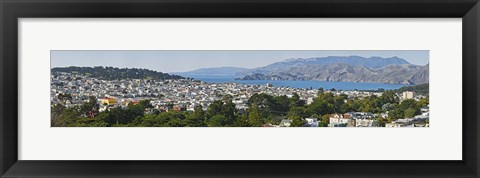 Framed High angle view of a city, Richmond District, Lincoln Park, San Francisco, California, USA Print