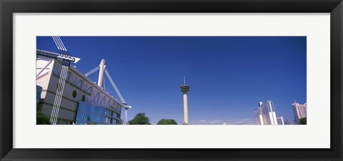 Framed Buildings in a city, Alamodome, Tower of the Americas, San Antonio Marriott, Grand Hyatt San Antonio, San Antonio, Texas, USA Print