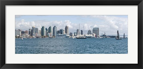Framed San Diego as seen from the Water Print