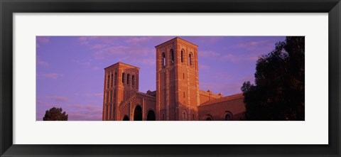 Framed Low angle view of Royce Hall at university campus, University of California, Los Angeles, California, USA Print
