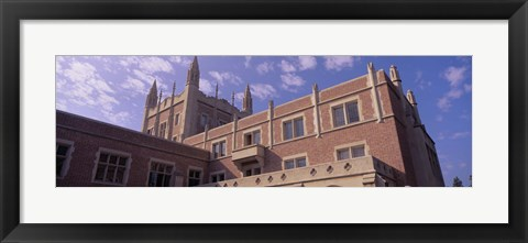 Framed Low angle view of Kerckhoff Hall, University of California, Los Angeles, California, USA Print