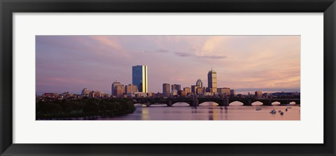 Framed Charles River, Back Bay, Boston, Massachusetts Print