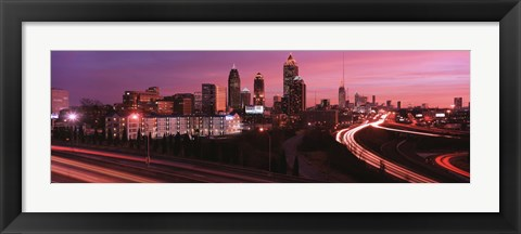 Framed Atlanta, Georgia (purple sky) Print