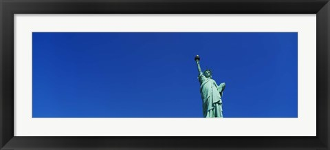 Framed Low angle view of Statue of Liberty, New York City, New York State, USA Print