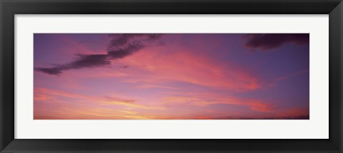 Framed Clouds in the sky at dusk, Phoenix, Arizona, USA Print
