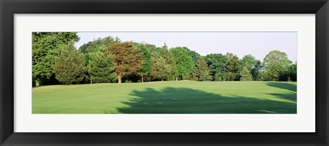 Framed Trees on a golf course, Woodholme Country Club, Baltimore, Maryland, USA Print
