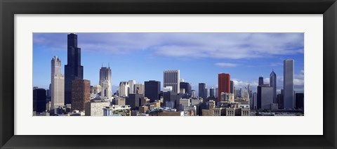 Framed Skyscrapers in a city, Sears Tower, Chicago, Cook County, Illinois, USA Print