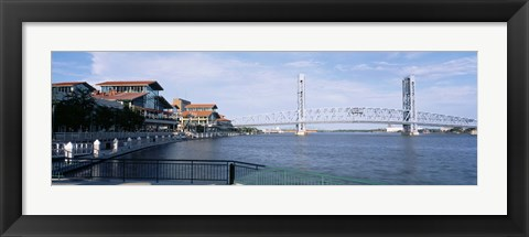 Framed Bridge Over A River, Main Street, St. Johns River, Jacksonville, Florida, USA Print