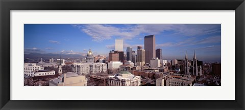Framed Aerial View of Denver, Colorado Print