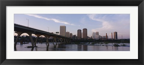 Framed Low angle view of a bridge over a river, Richmond, Virginia, USA Print