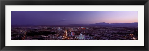 Framed USA, Nevada, Las Vegas, sunset Print