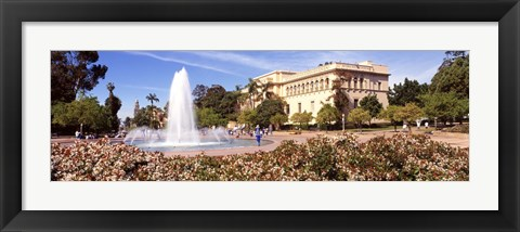 Framed Fountain in San Diego Print