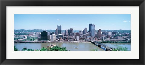 Framed Monongahela River Skyline, Pittsburgh Print