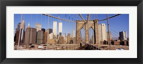 Framed Brooklyn Bridge Manhattan New York NY USA Print