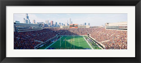 Framed High angle view of spectators in a stadium, Soldier Field (before 2003 renovations), Chicago, Illinois, USA Print
