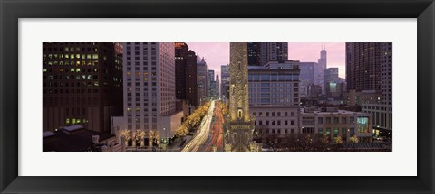 Framed Buildings in a city, Michigan Avenue, Chicago, Cook County, Illinois, USA Print
